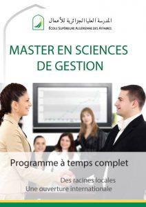 Plaquette Master en Sciences de Gestion